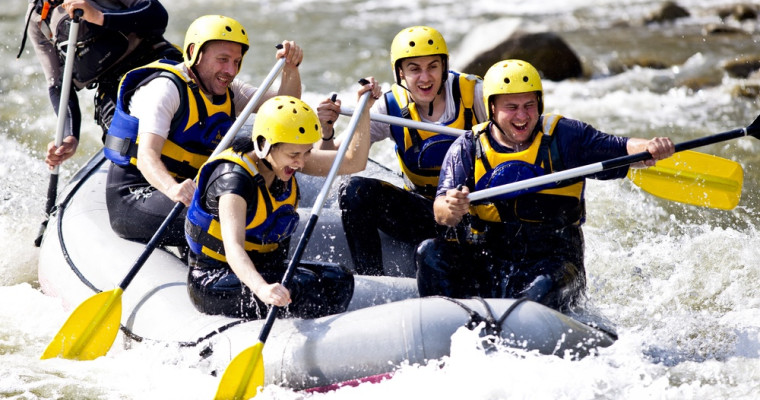 White Water Rafting on Prague Stag Do