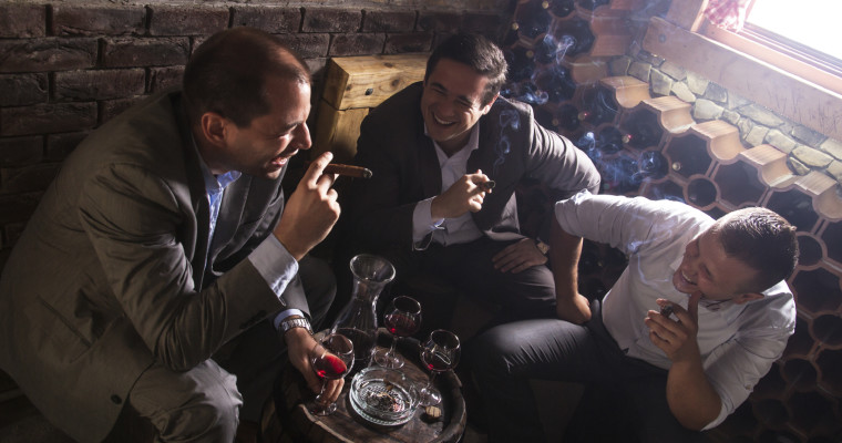 Men smoking Cigars