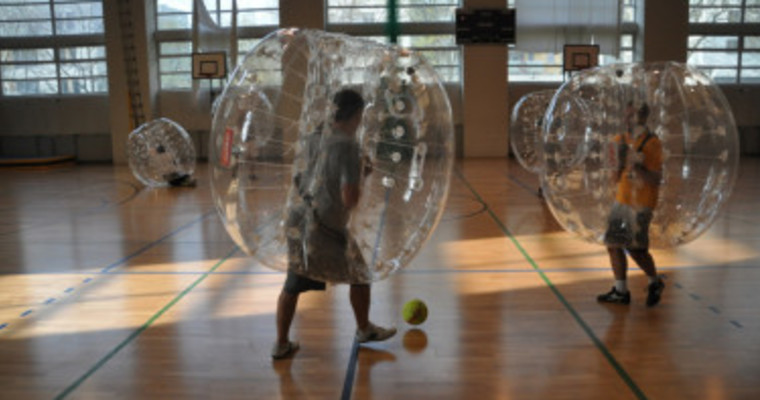 bubble football indoors photo