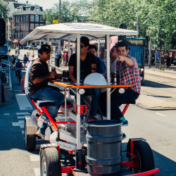 Beer Bike in Amsterdam on Stag Do