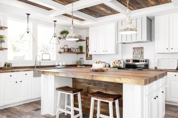 One of our most requested homes, the Lulabelle is a modern farmhouse style home with large windows to brighten up and make your dream kitchen butcher block style counters look and feel spacious.
