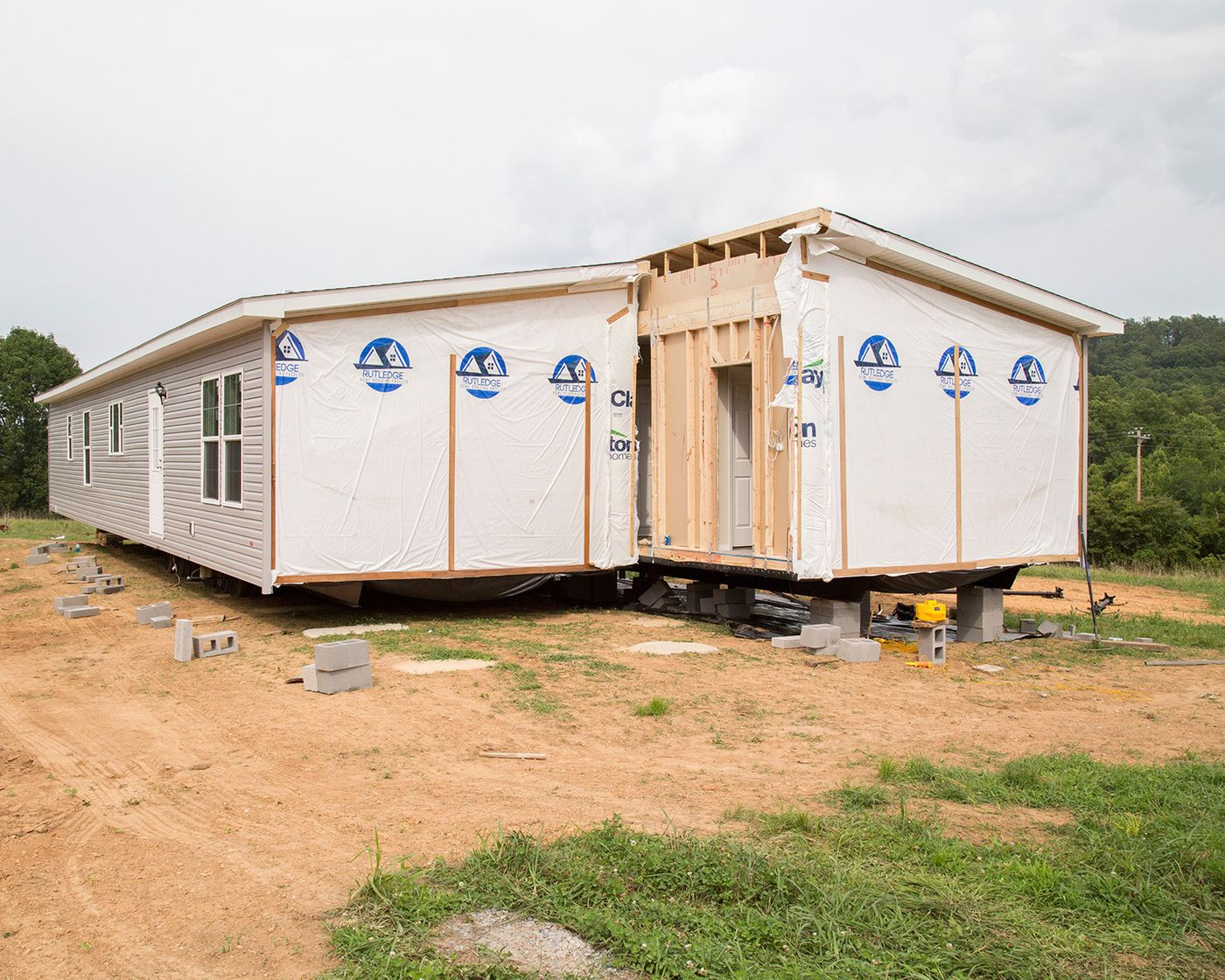 manufactured home set up