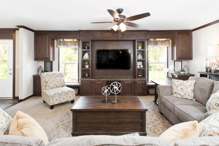 Create a Contemporary Manufactured Home Living Room on a Budget