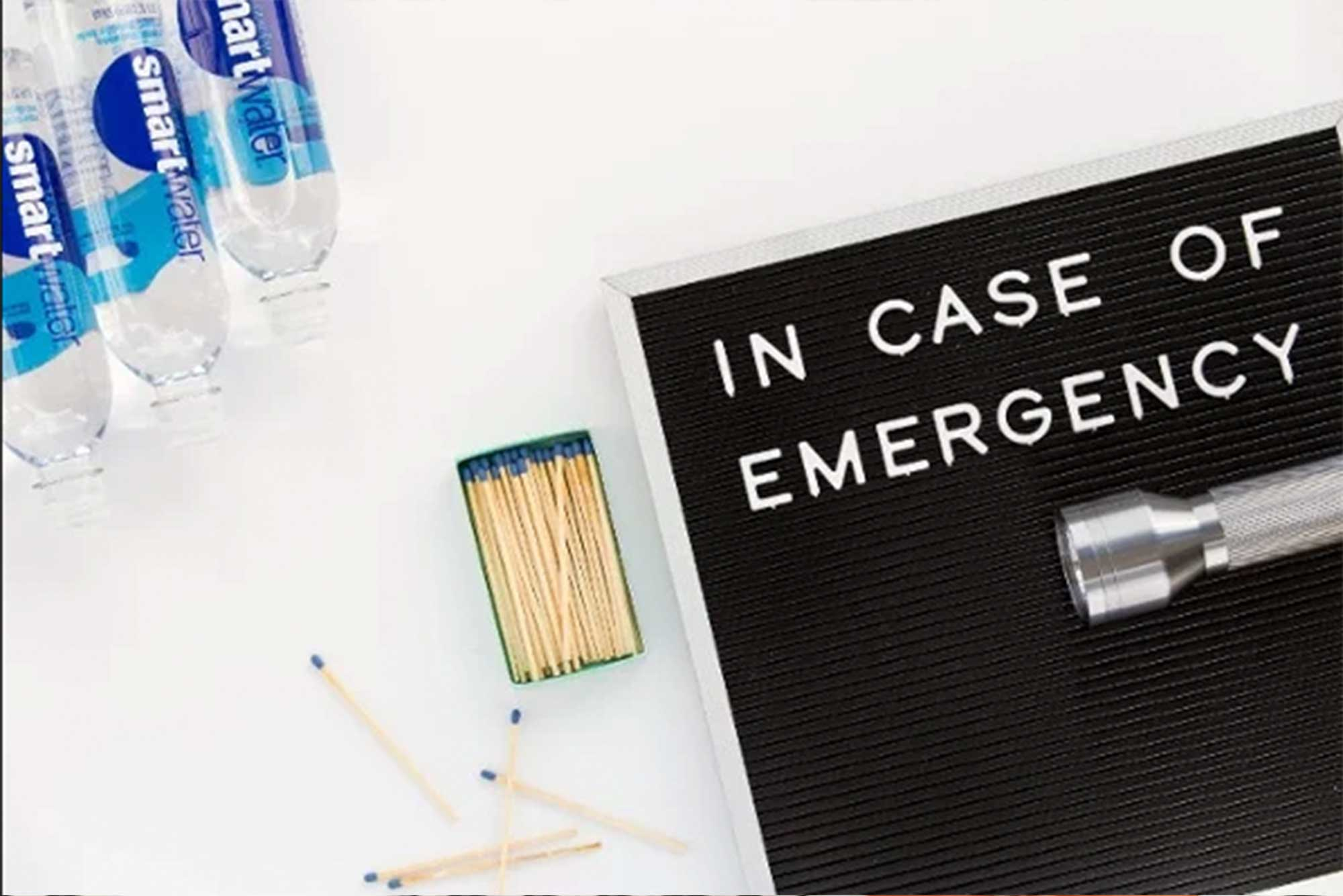 "Magnetic-letter-board-with-the-words-""in-case-of-emergency""."