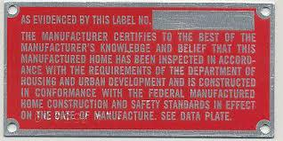 Manufactured Housing And HUD Label Verification