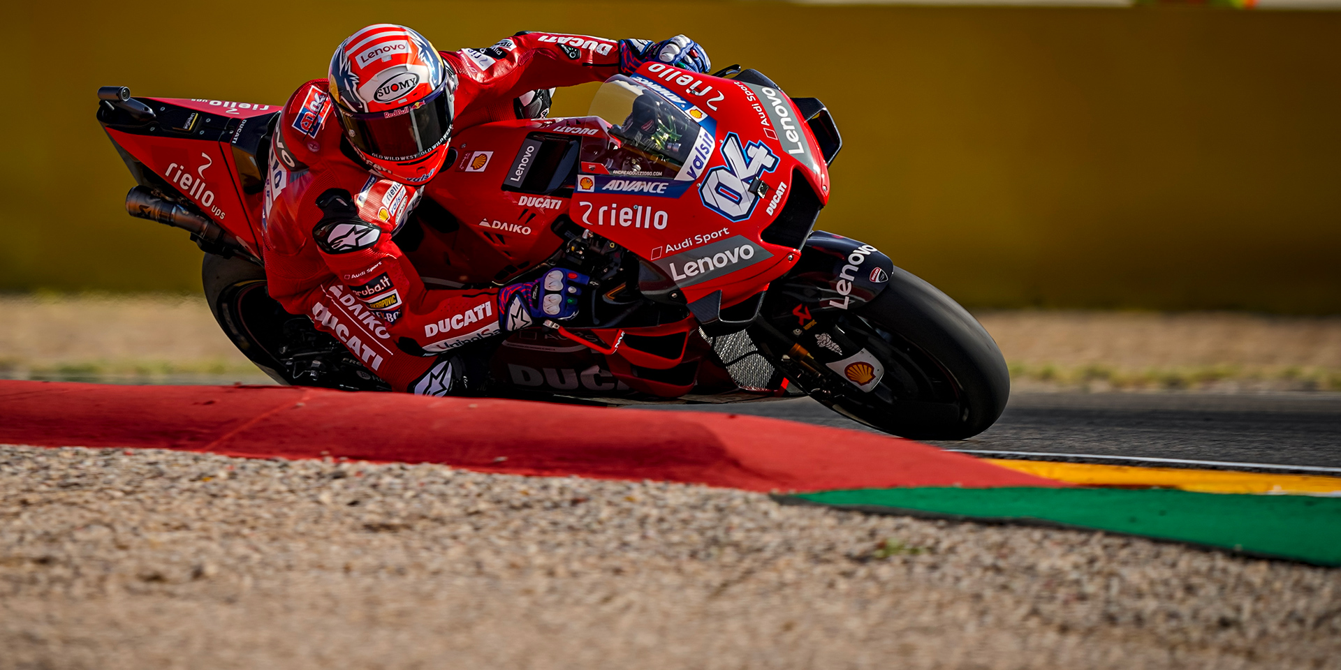 Fourth and fifth row starts for the Ducati Team riders after qualifying for the Gran Premio Michelin de Aragón: Andrea Dovizioso tenth and Danilo Petrucci fifteenth at the MotorLand circuit