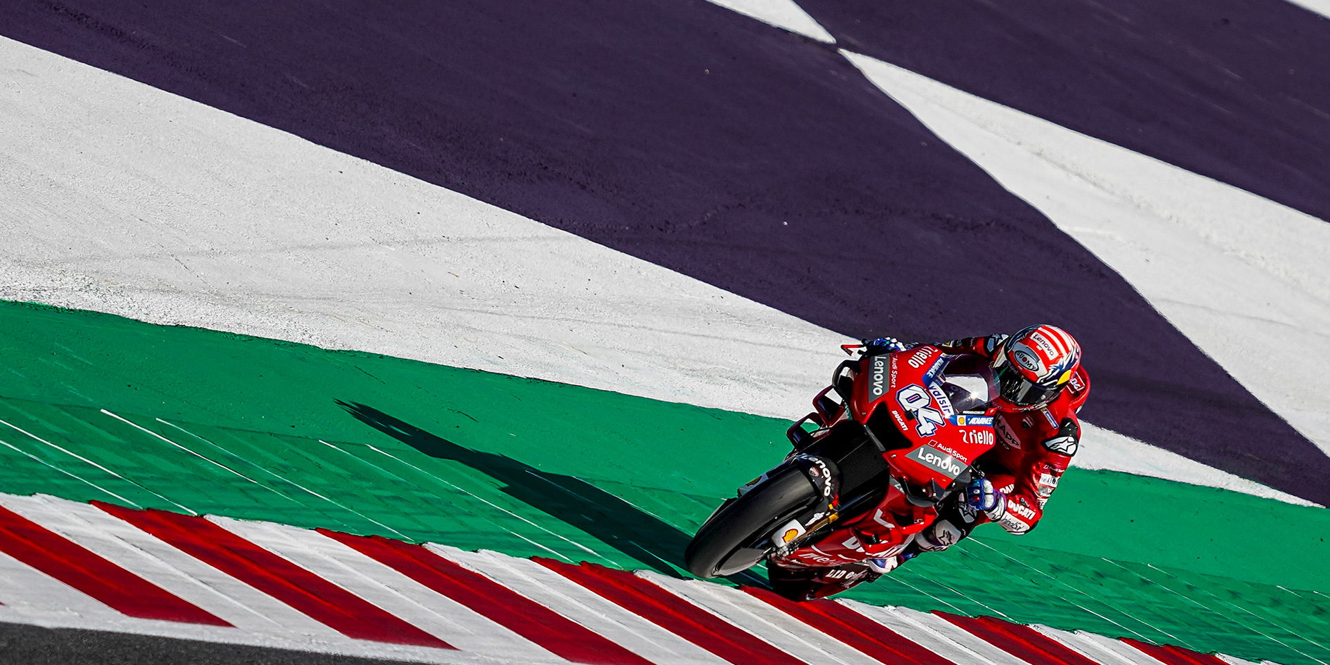 Second row start for Andrea Dovizioso, sixth in qualifying for the San Marino Grand Prix. Danilo Petrucci, down in seventeenth place, will start from Row 6, while Michele Pirro gains direct access into Q2 and finishes twelfth