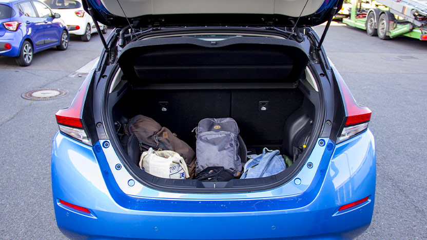 Nissan LEAF Test Kofferraum