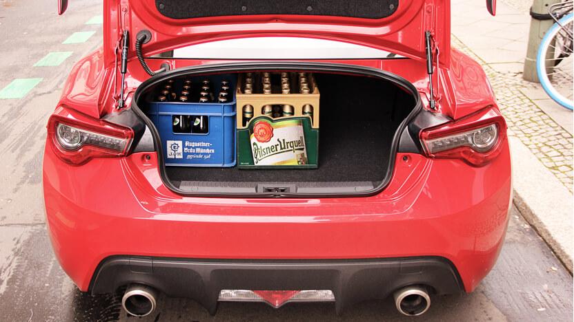 Subaru BRZ Test Kofferraum