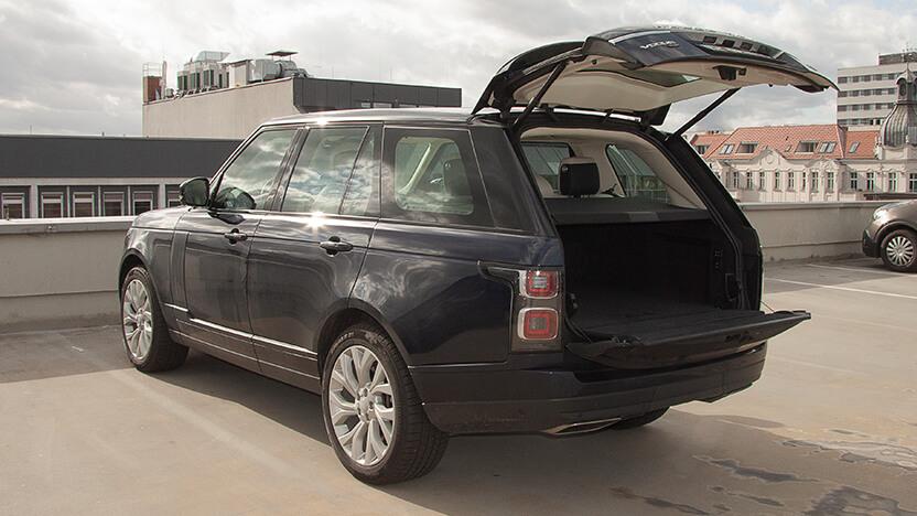 Test Range Rover Kofferraum