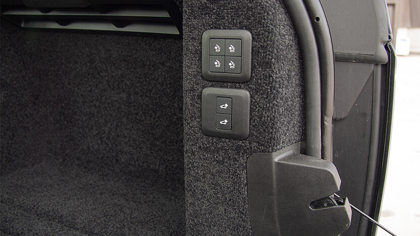 Range Rover Test Kofferraum
