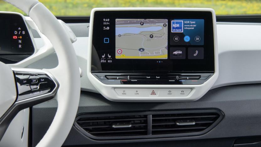 VW ID3 Infotainment Screen
