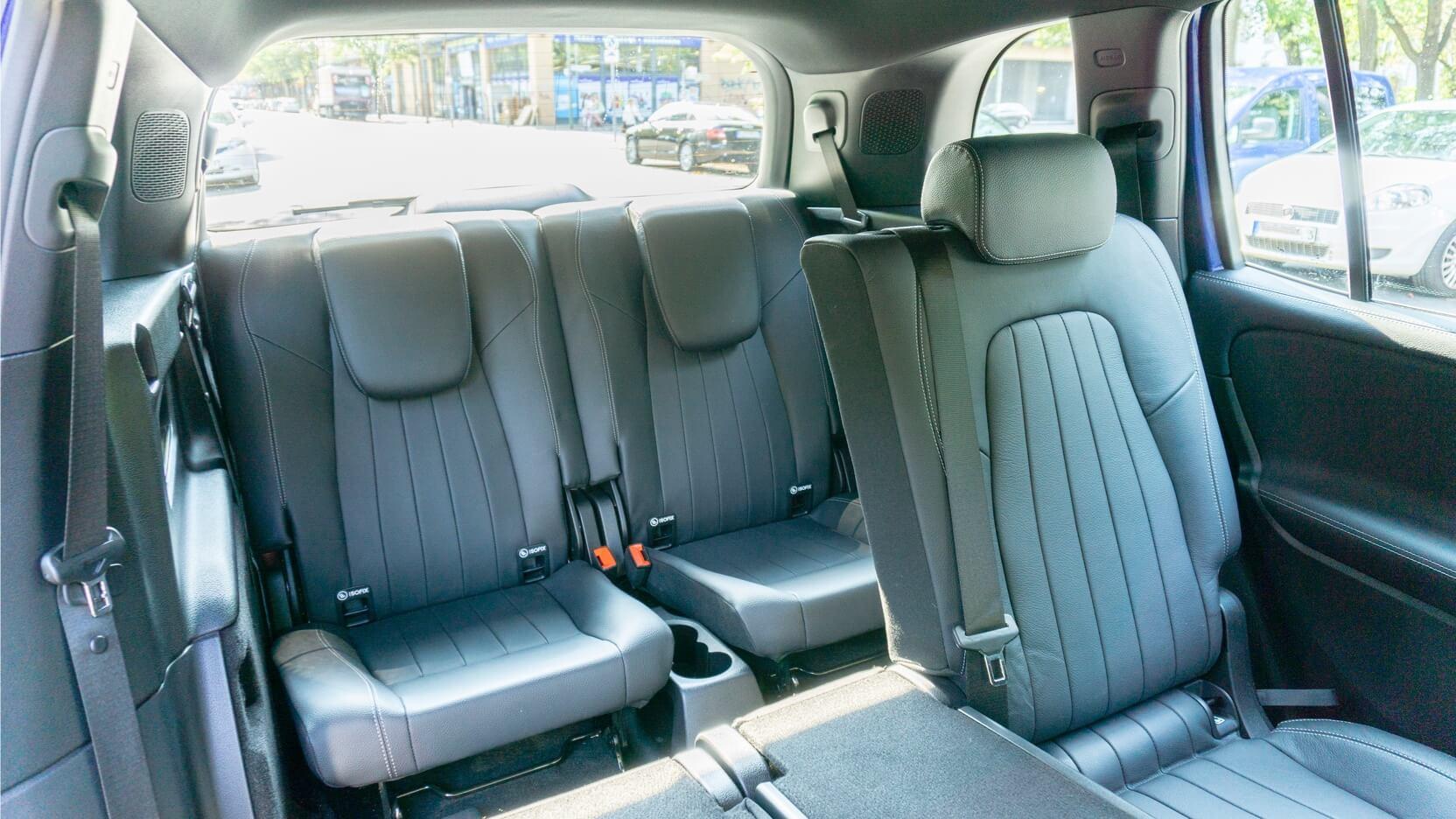 Mercedes GLB dritte Sitzreihe
