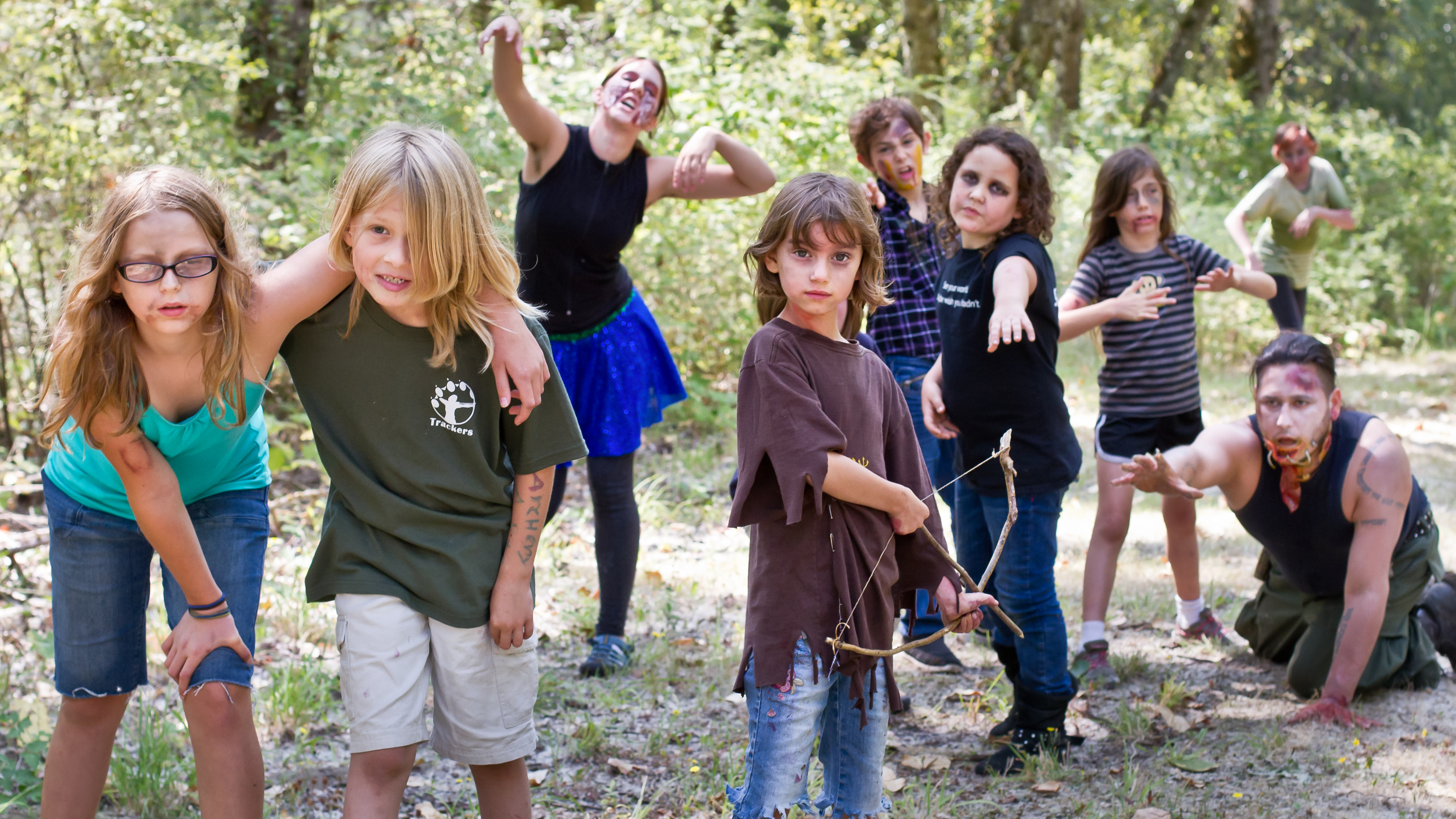Zombie survival camp for Spring warrior fish camp