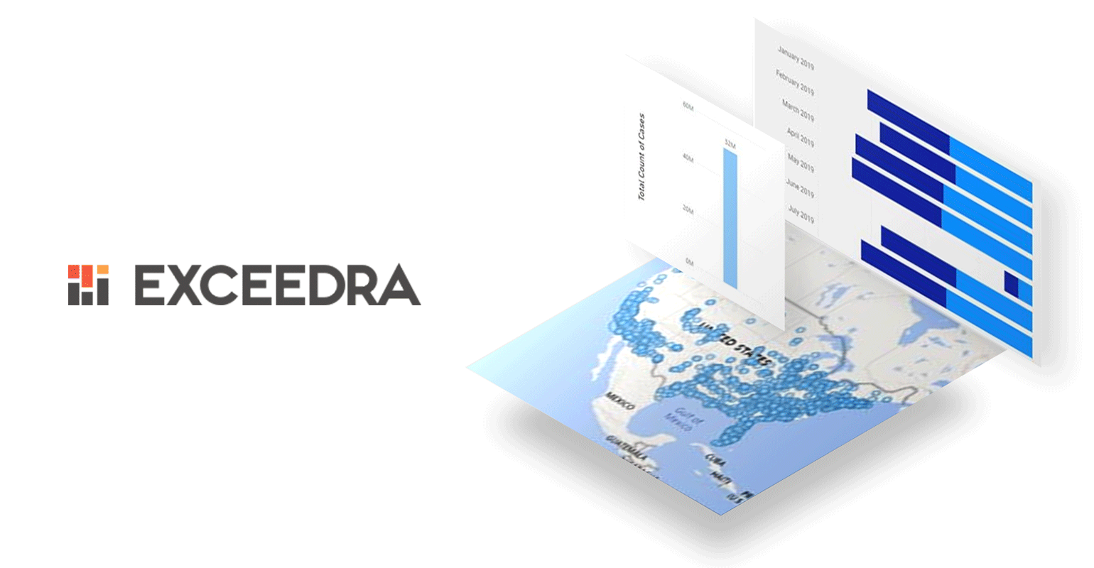 Image showing Exceedra logo and software.