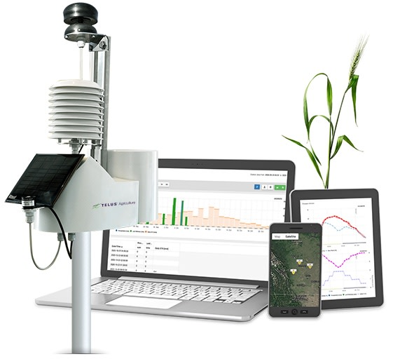 Weather station with software on multiple devices