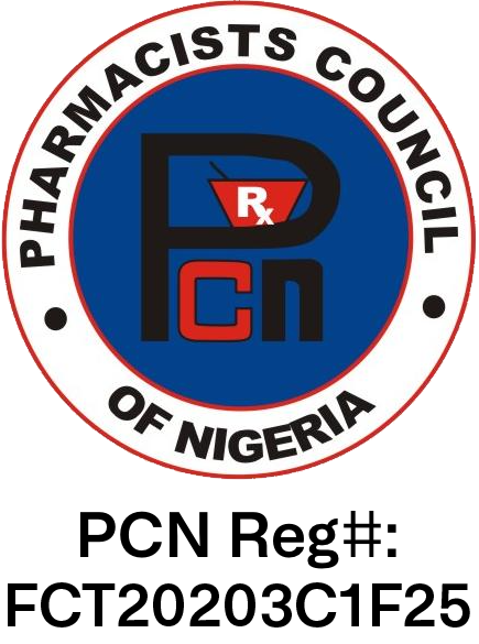 Pharmacy Council of Nigeria – Reg#: FCT201919212D