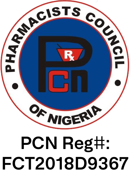 Pharmacy Council of Nigeria – Reg#: FCT2018D9367