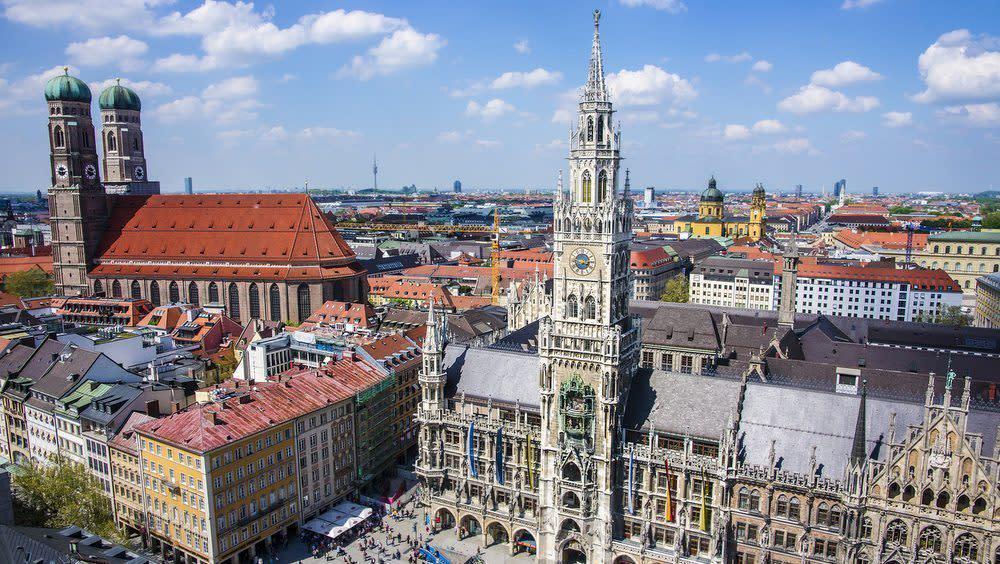 Die Bayerische Hauptstadt von oben
