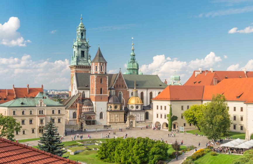 Vue superbe du centre-ville en EVG Cracovie