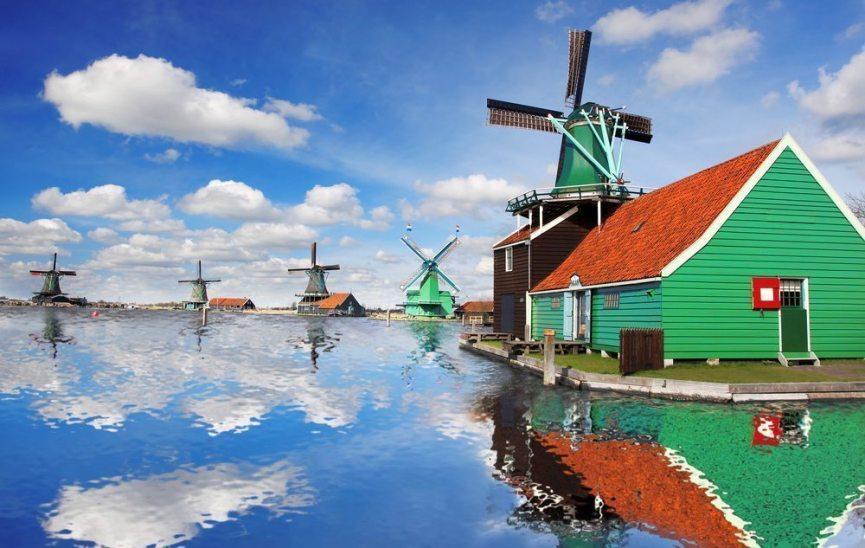 Kanaler og vannmøller i Amsterdam