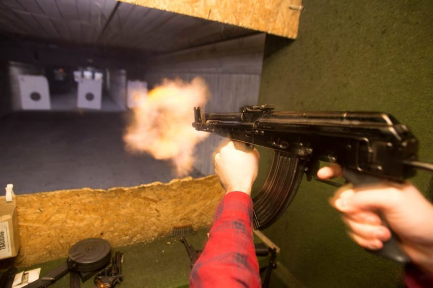 shooting guns in Budapest with Pissup