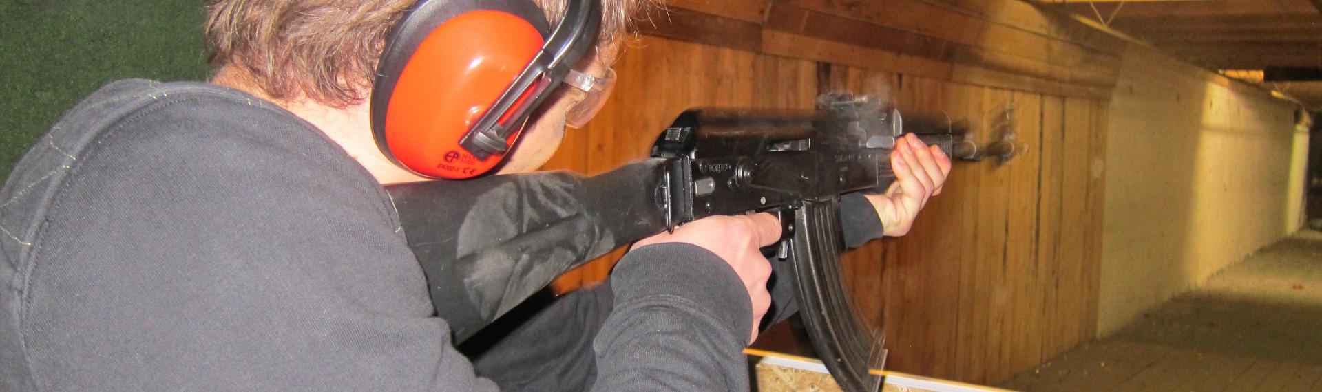 AK-47 Only Shooting Prague