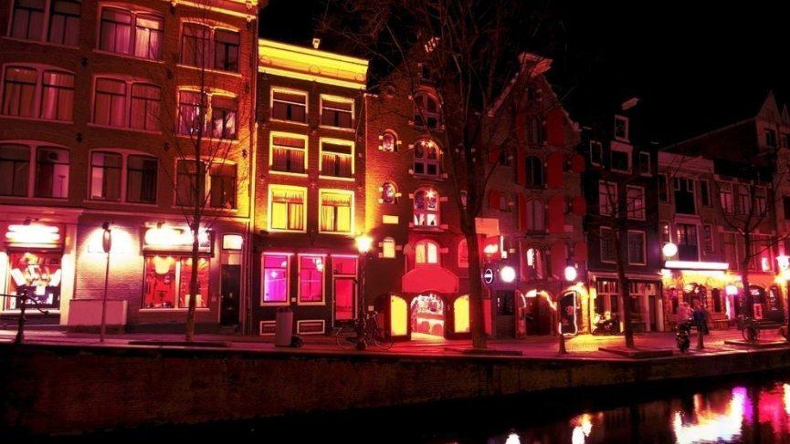 Das Rotlichtviertel in Amsterdam.