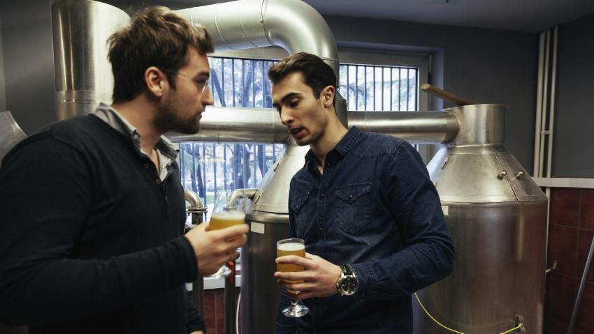 Bei der Verköstigung sollte man in der Brauerei auf jeden Fall mal probieren