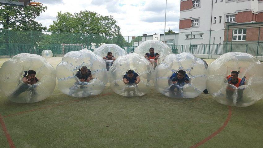 Bubble Fußball in Prag.