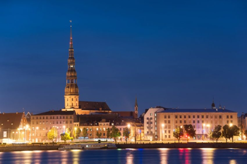 Riga by night - pissup stag do