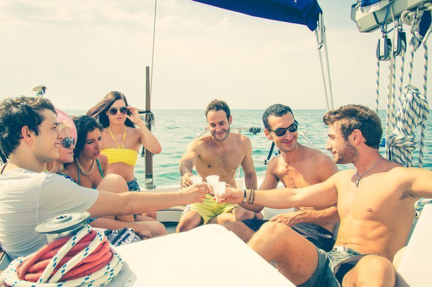 catamaran party in barcelona