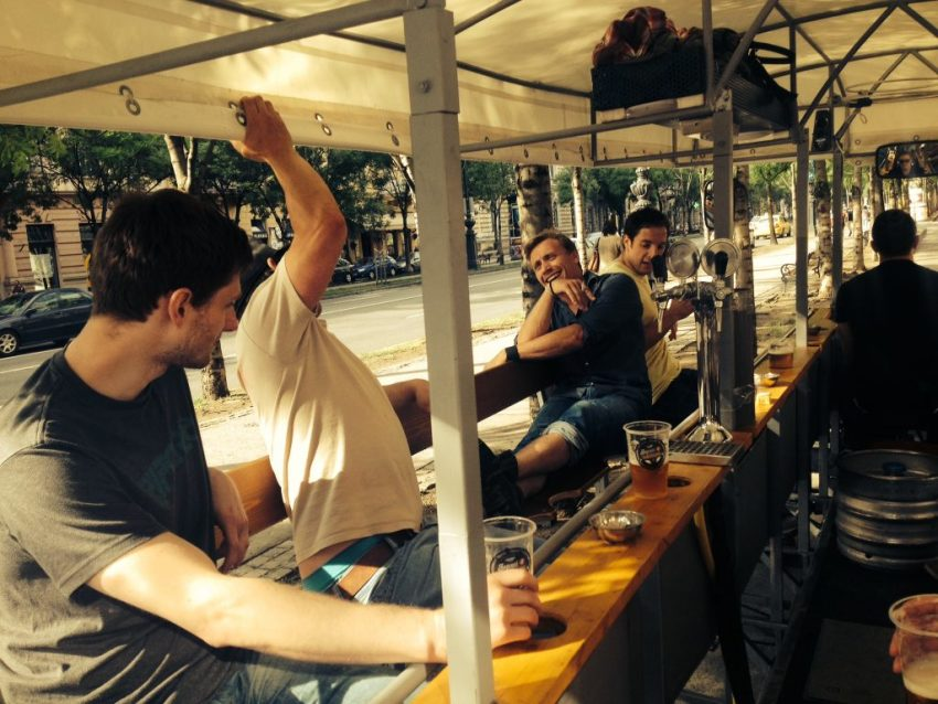 Budapest beer bike - pissup stag do