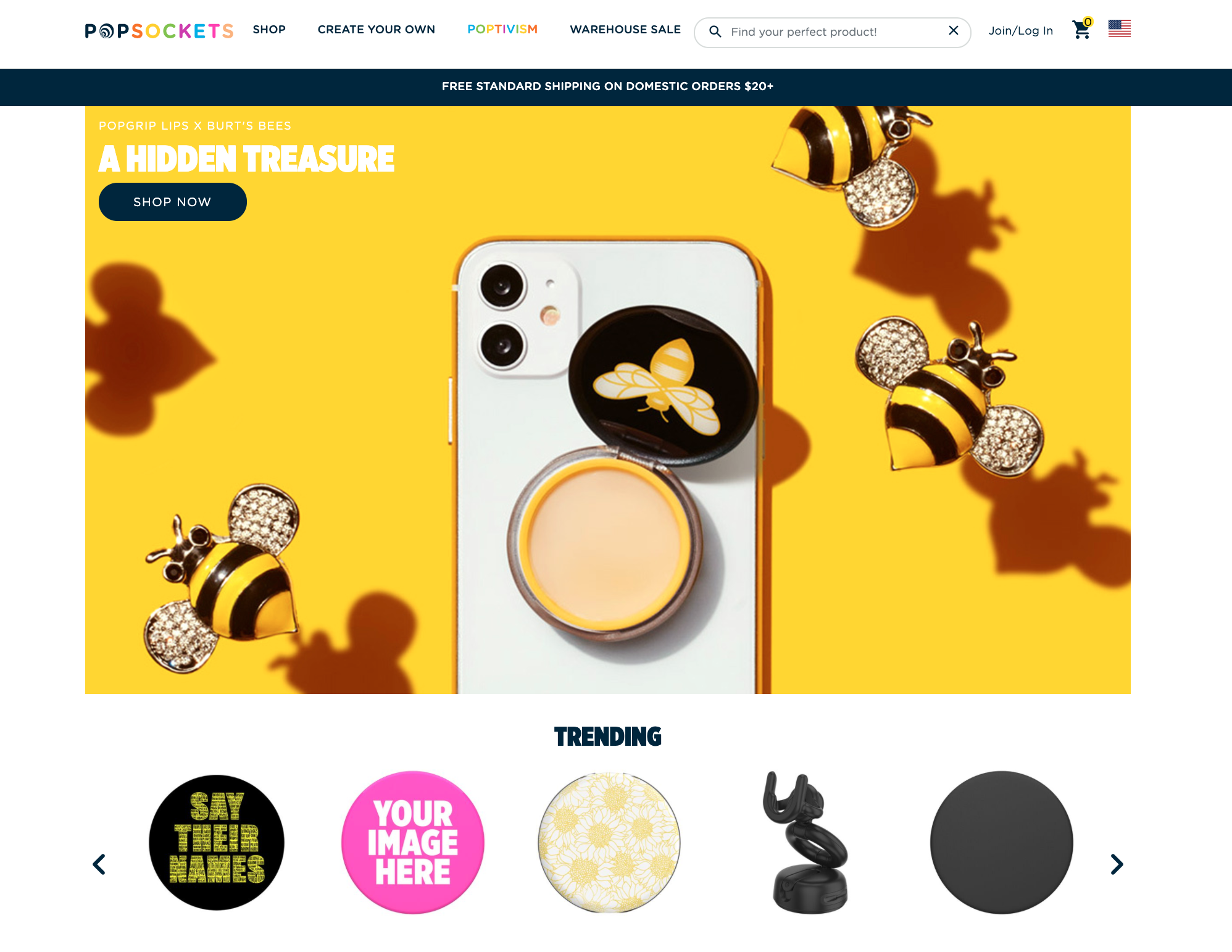 Popsockets Listing Brand Equity Example | Pattern