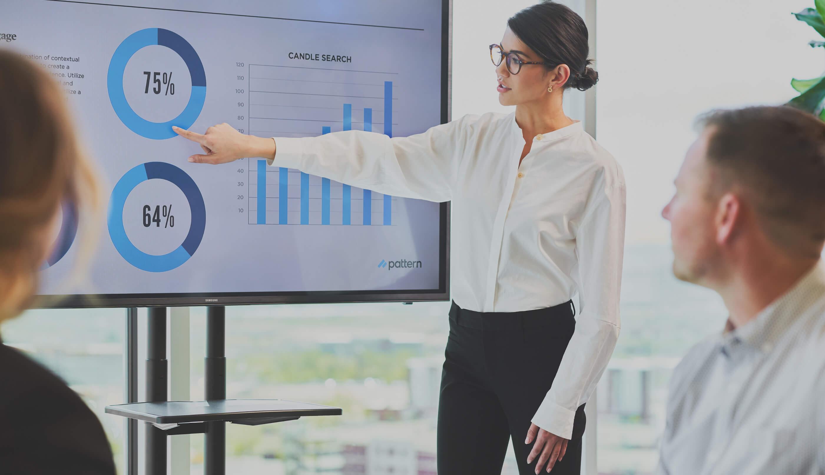 Person giving presentation