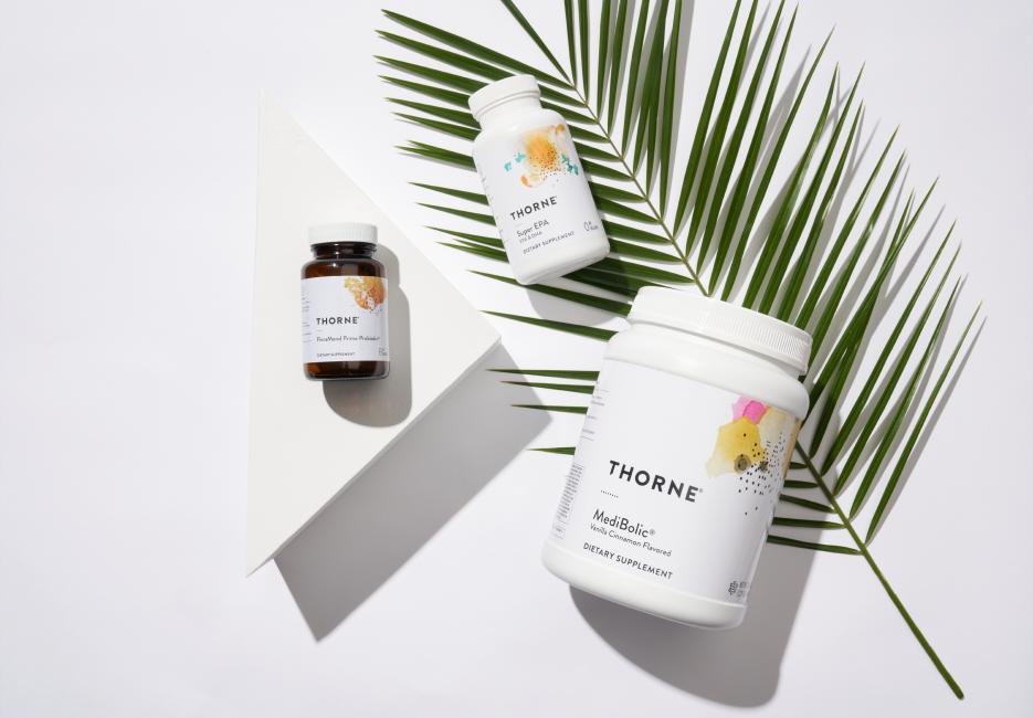 Thorne dietary supplement bottles