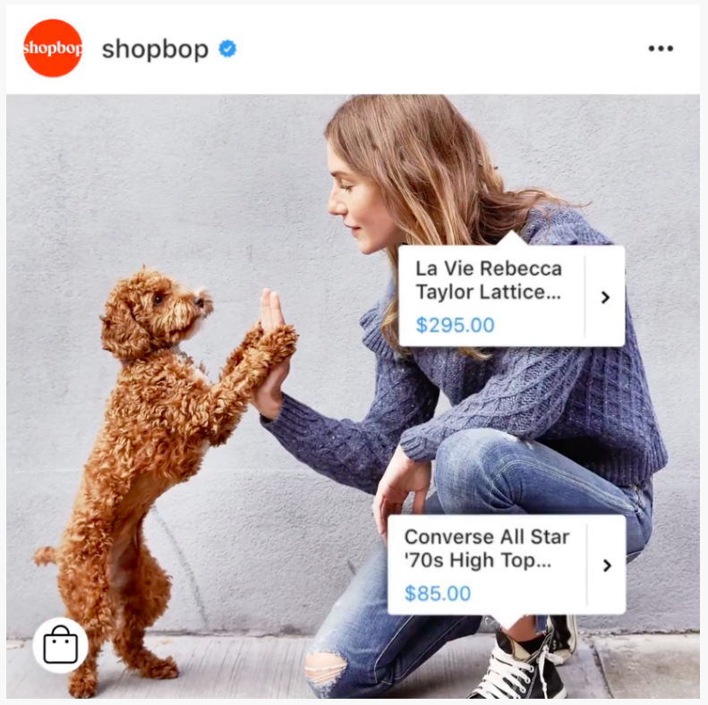 Shopbop Instagram social shopping platform, Pattern