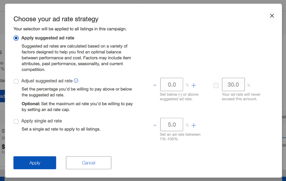 eBay Ad Rate Strategy Best Practices | Pattern