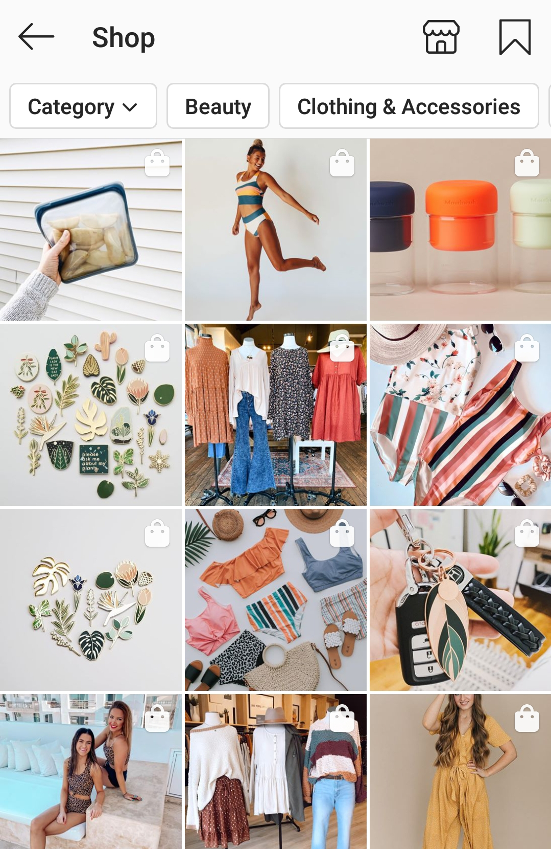 Instagram social shopping ecommerce, Pattern