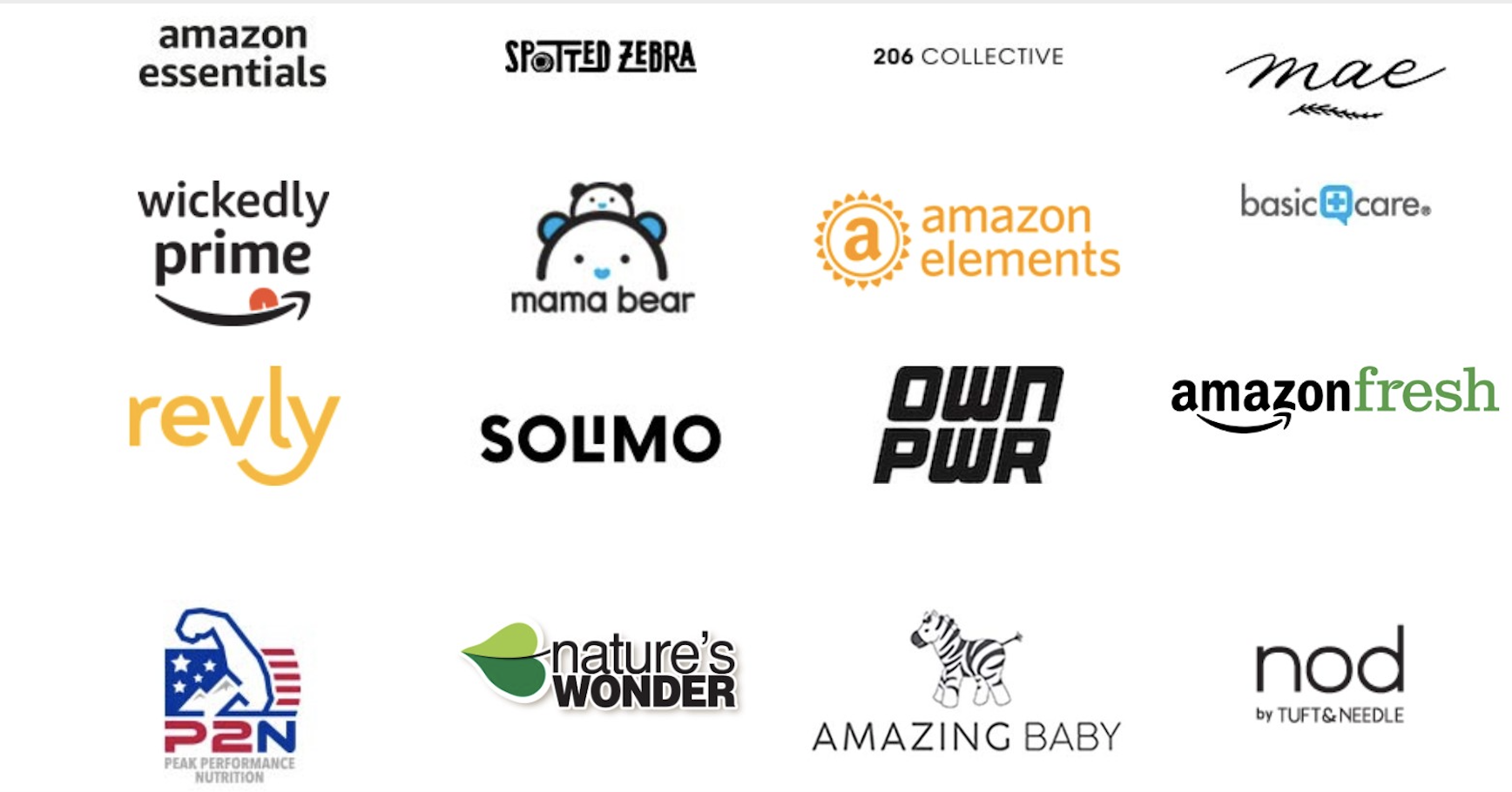 Amazon's private label brands