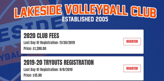 How to collect online payments for your volleyball club