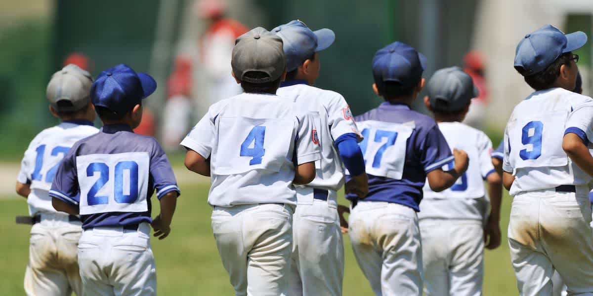 Youth Baseball Players