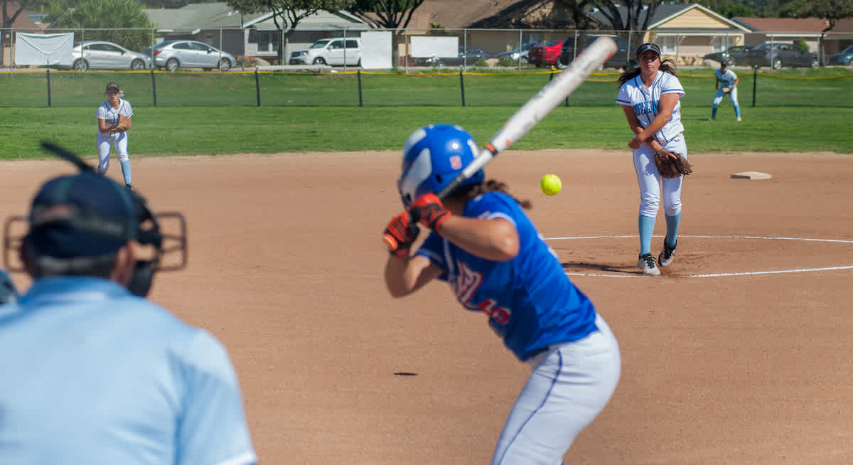 a travel fastpitch softball game