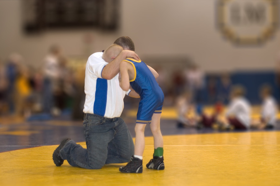 Youth Wrestling Coach and Wrestler