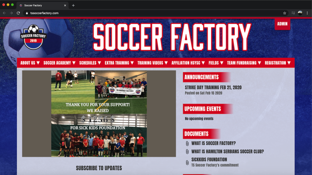 Youth Soccer Website