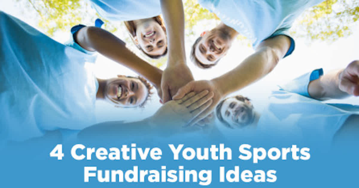 a team of volunteers thinking of youth sports fundraising ideas