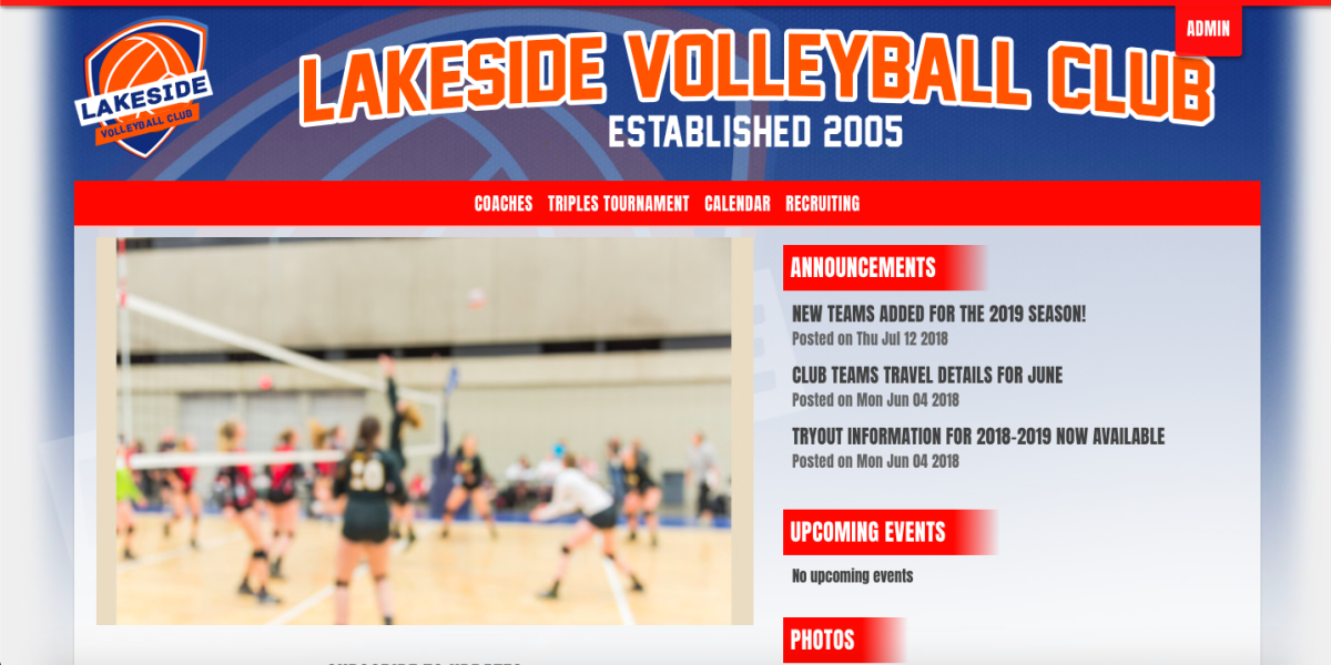 Club Volleyball Website