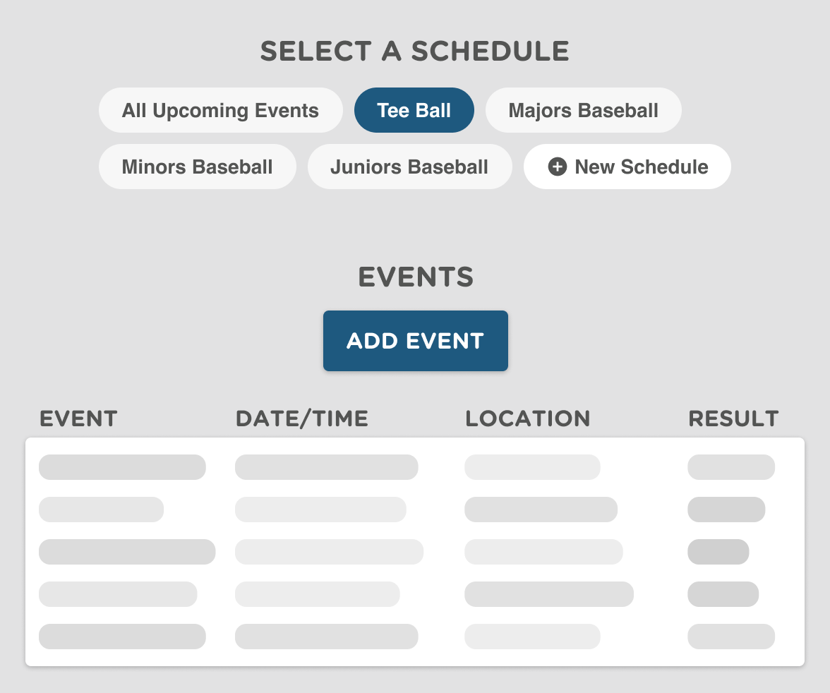 scheduling software for baseball teams, clubs and leagues