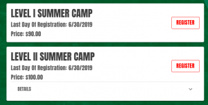 a volleyball camp online registration page