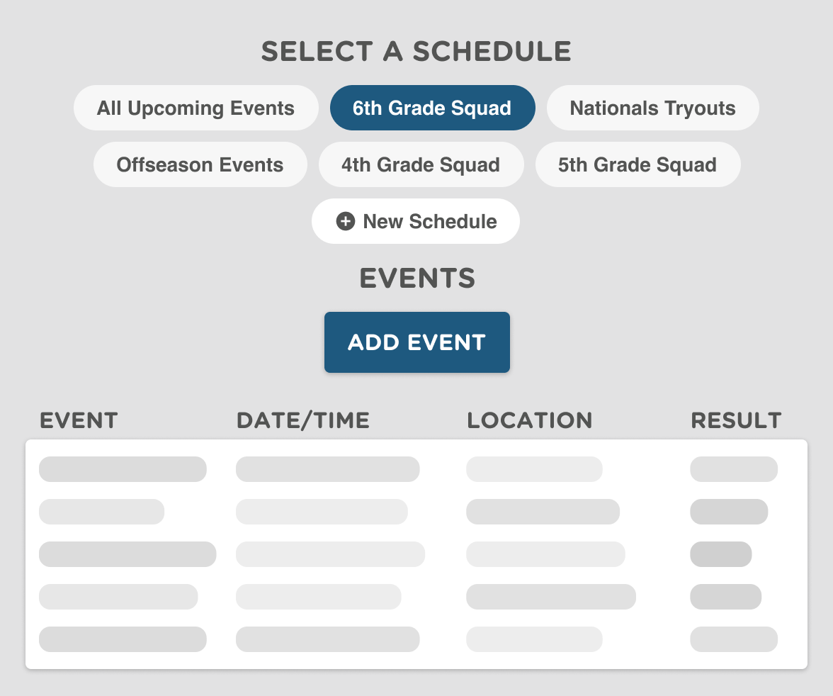 Cheerleading Scheduling Software
